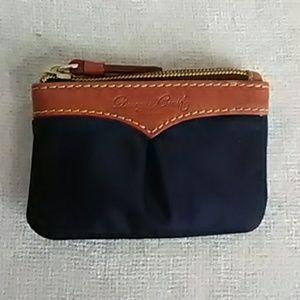 Authentic Dooney & Bourke nylon coin purse, navy